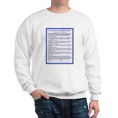 Covenant & Signatory on Sweatshirt