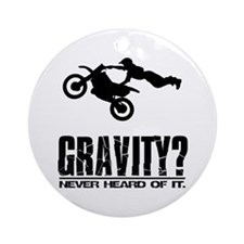 Gravity?-Motocross Ornament (Round)
