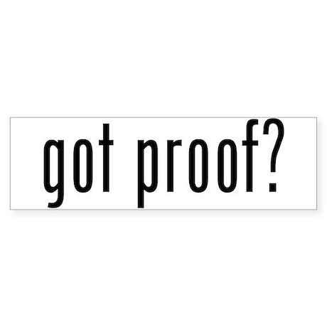 Obama Osama Proof Sticker (Bumper)