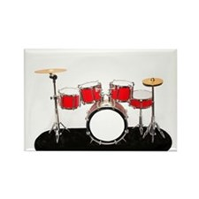 Drum Kit Rectangle Magnet