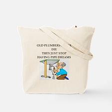 plumbing joke Tote Bag
