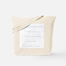 Serenity Prayer - Blue Tote Bag