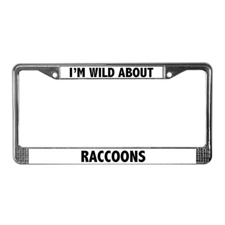 Raccoon License Plate Frame