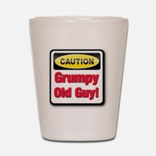 Caution: Grumpy Old Guy Shot Glass
