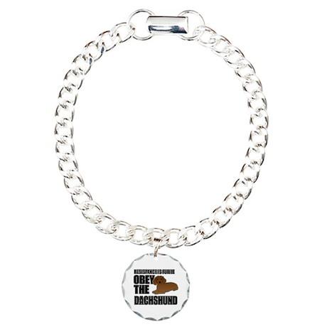 Dachshund Charm Bracelet, One Charm