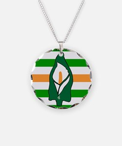 TÁL Easter Lily Necklace Circle Charm