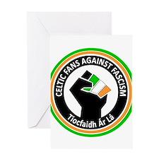 Celtic Fans Against Fascism Greeting Card