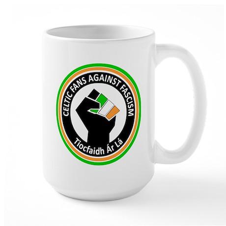 Celtic Fans Against Fascism Large Mug
