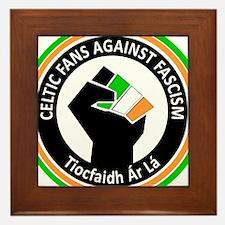 Celtic Fans Against Fascism Framed Tile