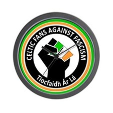 Celtic Fans Against Fascism Wall Clock