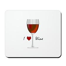 """I Love Wine"" Mousepad"