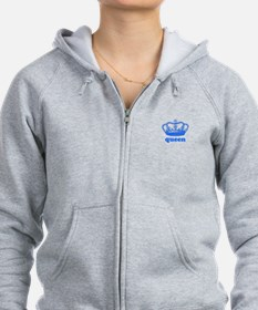 queen (royal blue) Zip Hoodie