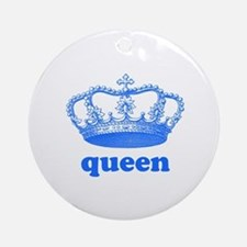 queen (royal blue) Ornament (Round)