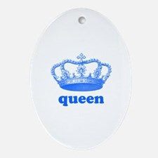 queen (royal blue) Ornament (Oval)