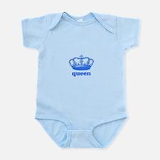 queen (royal blue) Infant Bodysuit