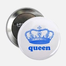 "queen (royal blue) 2.25"" Button (100 pack)"