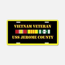 USS Jerome County Aluminum License Plate