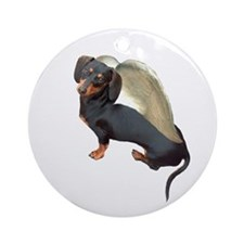 Lily Angel Dachshund Dog Ornament (Round)