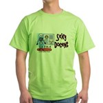 Sexy Docent Museum Worker Green T-Shirt