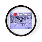 I Love Shuffleboard Wall Clock