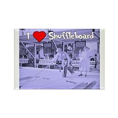 I Love Shuffleboard Rectangle Magnet (10 pack)