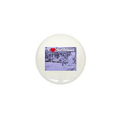 I Love Shuffleboard Mini Button (10 pack)