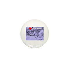 I Love Shuffleboard Mini Button (100 pack)