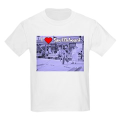 I Love Shuffleboard Kids T-Shirt