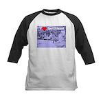 I Love Shuffleboard Kids Baseball Jersey