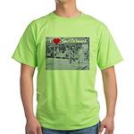 I Love Shuffleboard Green T-Shirt
