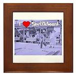 I Love Shuffleboard Framed Tile