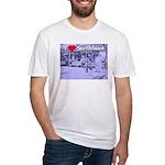 I Love Shuffleboard Fitted T-Shirt
