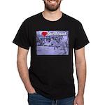 I Love Shuffleboard Black T-Shirt