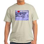 I Love Shuffleboard Ash Grey T-Shirt