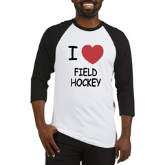I heart field hockey Baseball Jersey