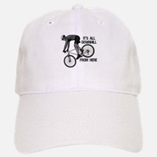 Downhill Mountain Biker Baseball Baseball Cap
