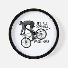 Downhill Mountain Biker Wall Clock