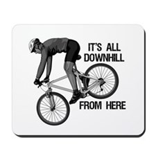 Downhill Mountain Biker Mousepad