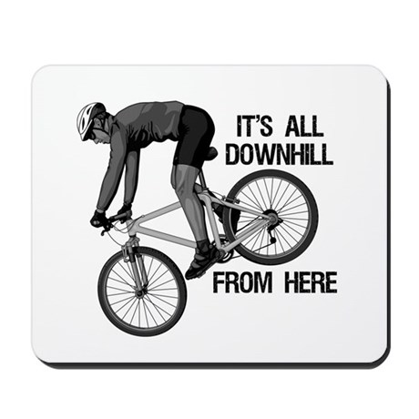 Downhill Mountain Biker Mousepad