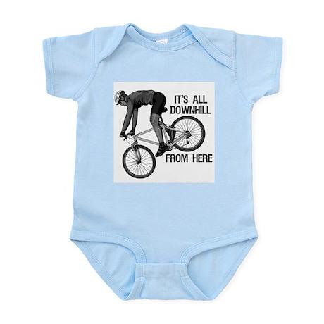 Downhill Mountain Biker Infant Bodysuit