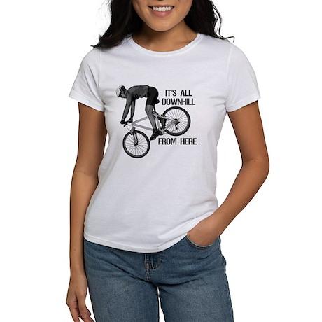 Downhill Mountain Biker Women's T-Shirt