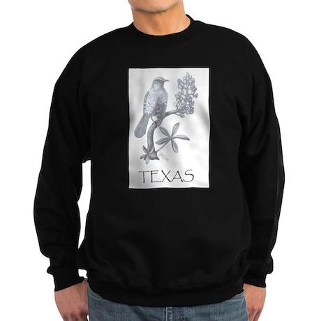 Texas Mockingbird/Bluebonnet Sweatshirt (dark)