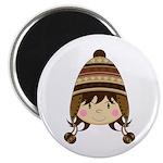 """Cute Kid in Wooly Hat 2.25"""" Magnet (100 Pk)"""