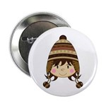 """Cute Kid in Wooly Hat 2.25"""" Button"""