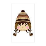 Cute Kid in Wooly Hat Sticker (50 Pk)