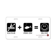 Kayak + Fish On = Bliss License Plate