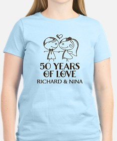 50th Wedding Anniversary Personalized T-Shirt