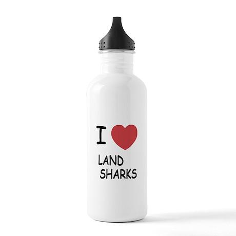 I heart land sharks Stainless Water Bottle 1.0L