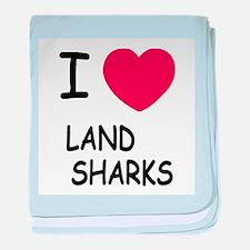 I heart land sharks baby blanket