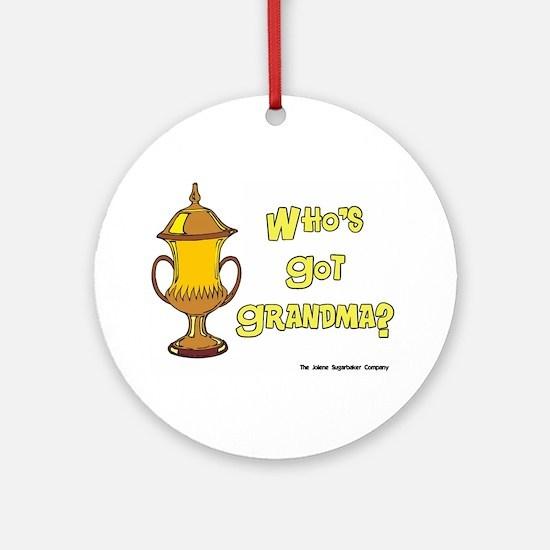 Cremation Grandma Urn Ornament (Round)